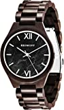 REDMONT Classic Collection Herren Uhr mit Holzarmband Analog Quarz