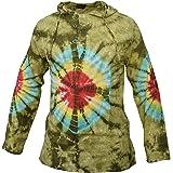 Gheri Tie Dye Cotton Light Summer Hippie Psychedelic Bohemian Grandad Hoodie