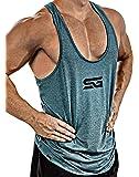 Satire Gym Fitness Stringer Uomo - Abbigliamento Sportivo Funzionale - Adatto per Workout, allenamenti - Slim Fit