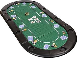 Riverboat Gaming Classic faltbare Pokerauflage mit grün wasserabweisenden Stoff und Tasche - Pokertisch 200cm