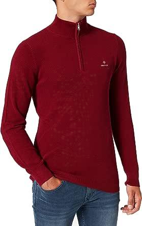GANT Men's Cotton Pique Half Zip Sweater
