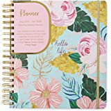Tri-Coastal Design - 17 Months Agenda from August 2019 to December 2020 Weekly Diary and Planner: Daily and Monthly Diary for Office Home and Work (Blue Floral)
