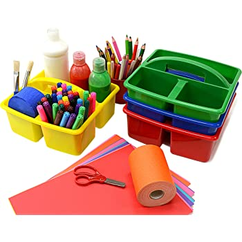 Classroom Desktop Storage Caddies - Pack of 4 (230 x 230 x 130mm)