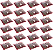 HomeStrap 24 Piece Fabric Saree Cover, Large- Red