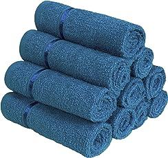Story@Home 100% Cotton Soft Towel Set of 10 Pieces, 450 GSM - 10 Face Towels - Blue