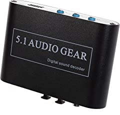 GEMCO Panlong 5.1 Audio Gear Digital Sound Decoder Converter - Optical SPDIF/ Coaxial Dolby AC3 DTS to 5.1CH Analog Audio