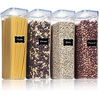 Vtopmart 2.8L boîtes de Conservation Alimentaire sans BPA de Nourriture en Plastique avec Couvercle,Ensemble De 4+24…
