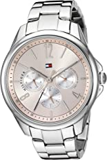 Tommy Hilfiger Women's 'Sport' Quartz Stainless Steel Casual Watch, Color Silver-Toned (Model: 1781826)