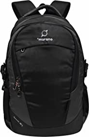 Murano Speedo 32 LTR Laptop Backpack for 15.6 inch Laptop and Polyester Water Resistance Backpack for Men and Women- Black an