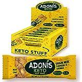 Adonis Low Sugar - Barritas de Nueces del Brasil Crujiente sabor Cúrcuma y Naranja | 100% Natural, Baja en Carbohidratos, Sin