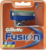 Gillette Fusion - Recambios de maquinilla de afeitar para hombre - 4 recambios -Packaging May Vary