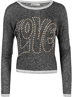 Diva Jeans N438 Damen Winter Pullover Batwing Smiley Pulli Strick Smily Sweater Shirt
