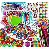 Yojoloin Kits de Loisirs Créatifs Bricolage Enfant 5 6 7 8 Ans,1800+pcs Activites Manuelles avec Paillettes,Pompons, Plume,Pa