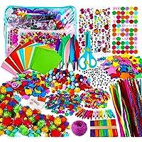 Yojoloin Kits de Loisirs Créatifs Bricolage Enfant 5 6 7 8 Ans,1800+pcs Activites Manuelles avec Paillettes,Pompons…