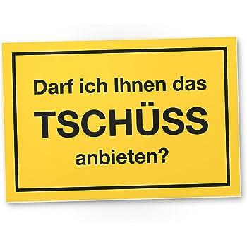 Dankedir Tschuss Anbieten Kunststoff Schild Mit Spruch Turschild
