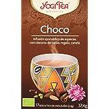 Yogi Tea - Choco, Infusión Ayurvédica de Especias con Cáscaras de Cacao, Regaliz y Canela - 17 Bolsitas, 37,4g