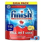 Finish All in 1 Max Pastiglie Lavastoviglie, Limone, 110 Capsule