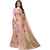 ANNI DESIGNER silk with blouse piece Saree (NALINI PINK Free)