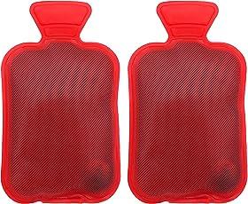 Handwärmer Taschenwärmer wiederverwendbar Fingerwärmer zum Knicken - Heizpad Firebag für Warme Hände und Finger im Winter auch als Geschenk für Kinder und Erwachsene Rot (Rot, Wärmflasche 2 Stück)