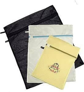 30x40cm Amaone Mesh Laundry Bag Bra Wash Bags Large Drawstring For Washing Machine Delicates Clothes Bras Underwear Socks Lingerie Net Washing Bags Zipper White