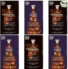 6 x 10 Bio Kaffeekapseln Nespresso kompatibel Coffee Love-Box 60 Kapseln 2 Sorten Lungo Espresso ohne Alu kompostierbar von My-CoffeeCup