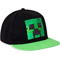 MINECRAFT Accessori Cappellino da Baseball Bambino | Cappello da Baseball in Nero E Verde Creeper, Berretto Bambini…