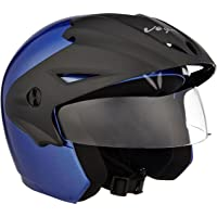 Vega Cruiser CR-W/P-MB-M Open Face Helmet (Metallic Blue, M)