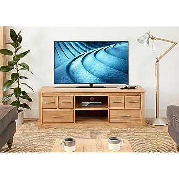 baumhaus mobel oak widescreen television cabinet