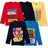 T2F Boy's Regular Fit Full Sleeve T-Shirt