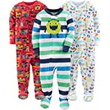 Simple Joys by Carter's 3-Pack Snug Fit Footed Cotton Pajamas Bimbo 0-24, Pacco da 3