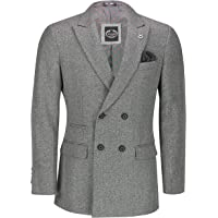 Xposed Mens Double Single Breasted Blazer Smart Retro Tailored Fit Coat Classic Suit Jacket