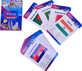 Baski Toys Flags of Asian Countries - Flash Cards (10 cm x 15 cm x 1.5 cm)