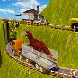 Simulateur 3D de camion de transport de Dino fâché: Jeux de dinosaure sauvage de transporteur d'animal