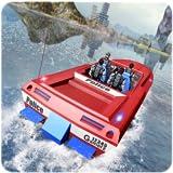 Polizei-Rennboot-Transporter