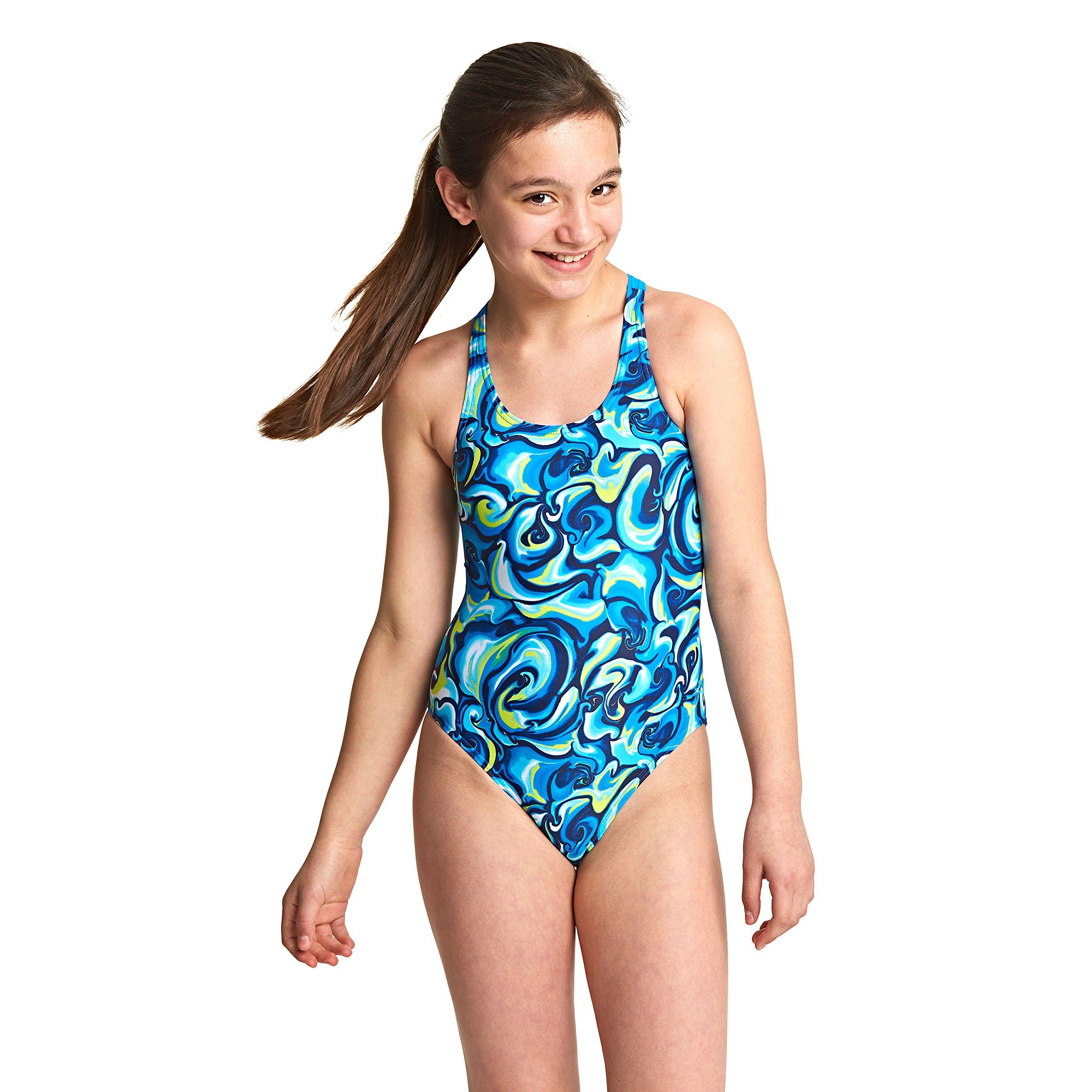 Varsany Legsuit Personalised Girls Swimming Costume one Piece Kids Swimsuit Bathing Suit Swimwear Childrens