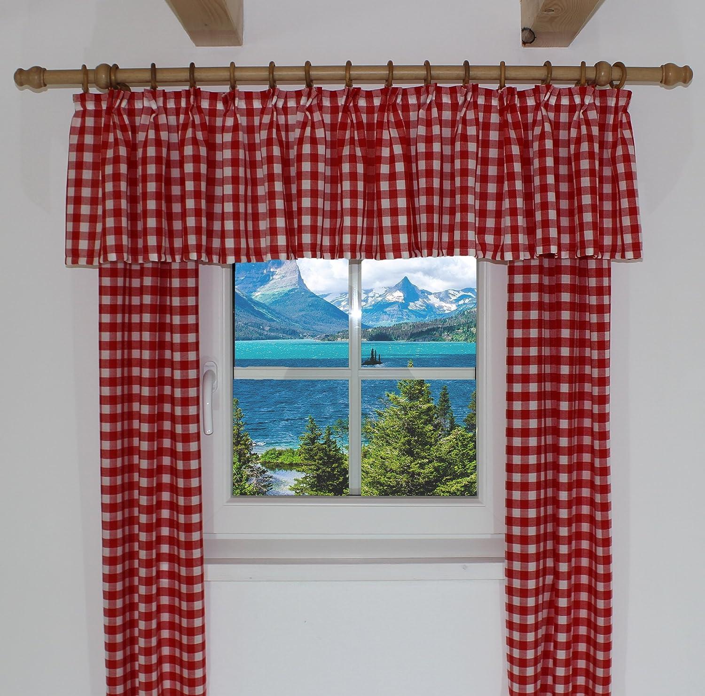 farbe vorhang wohnzimmer : Amazon De Querbehang Passend F R Vorhang Landhaus Design Finja