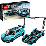 LEGO76898SpeedChampionsFormulaEPanasonicJaguarRacingGen 2yJaguarI-PaceeTROPHY,ModelodeConstrucción