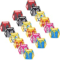 Kidbee Babies Hosiery Cotton Cloth Single Layer Nappies/Langot/Cloth Diaper Printed Mix (Pack of 18 (Multicolor), 6-12…