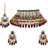 Matushri Art Indian Traditional Jewelry With Big Beads And Stones Gold Plated Antique Choker For Womens And Girls