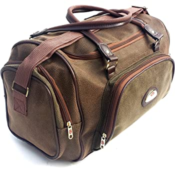Leather Weekend Bag Travel Duffle Sports Cabin Gym PU Look Holdall Luggage  Faux (Luxury Cabin) ef3d8392f1
