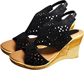 Ziaula Womens Stylish Casual Wedges Heel Sandal Available in Combo Pack and Single Pack
