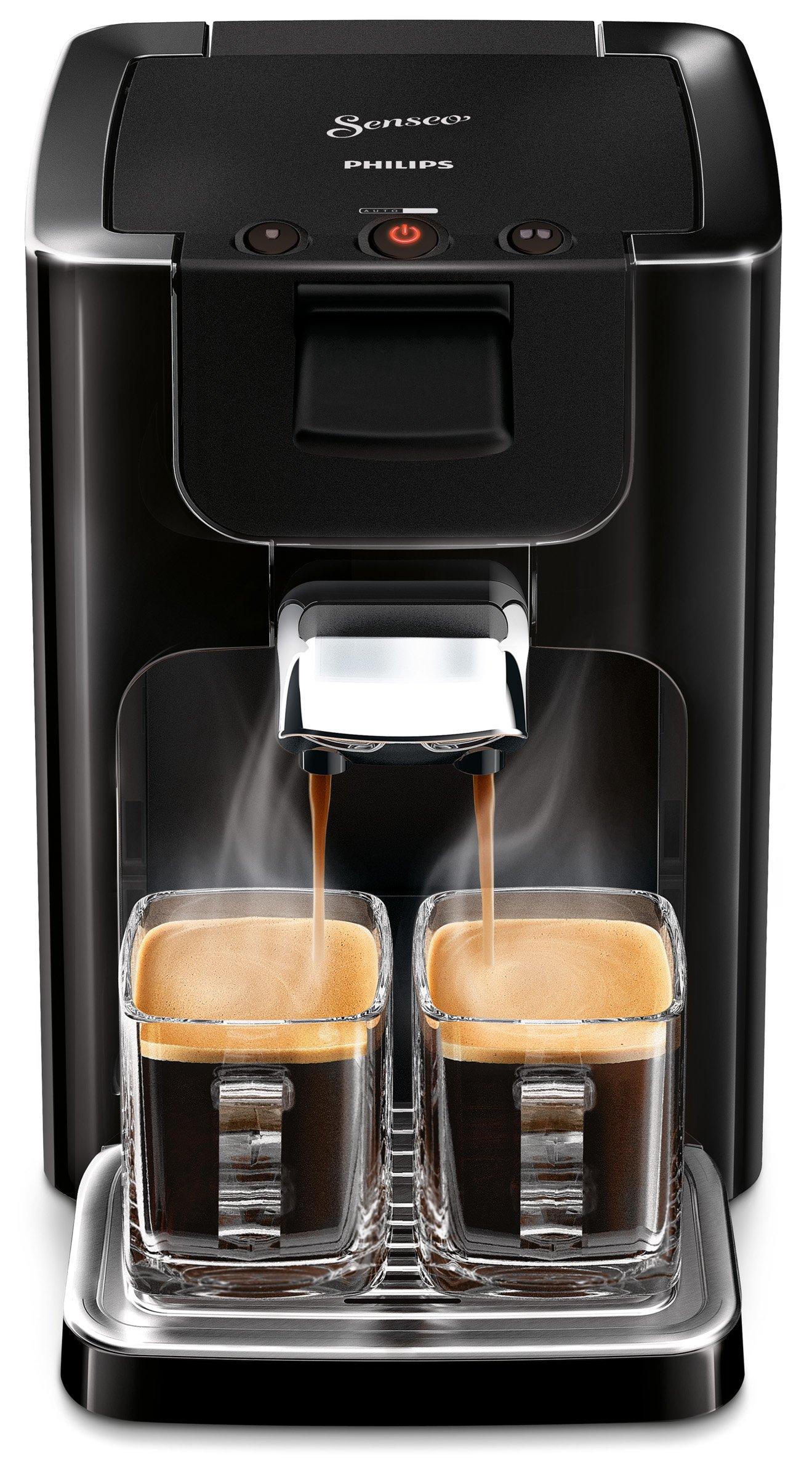 Senseo-Quadrante-hd786560-Coffee-Machine-in-Capsules-12L-8-Cups-Black-Coffee-Freestanding-Coffee-Machine-in-Capsules-Coffee-Beans-Coffee-Pods-Black-Buttons-5060-Hz