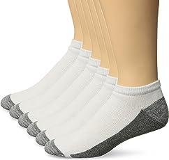 Hanes Men's Comfortblend Max Cushion 6-Pack White Low Cut Socks