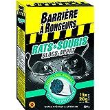 BARRIERE A RONGEURS Blocs-Appât contre l'invasion des Rats & Souris, Prêt à l'emploi, 15 blocs, BARASOBLOC300