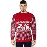 Maglione natalizio per uomo, motivo renne