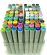 Brustro Twin Tip Alcohol Based Marker Sets (Full Range of 72) Free Daler-Rowney Marker Paper Pad A3 Worth Rs. 1299