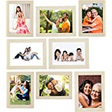 Amazon Brand - Solimo Collage Photo Frames, Set of 8, Cream