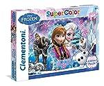 Disney Frozen 27248.8 Clementoni-27248-Glitter Puzzle-Frozen-104 Pieces, Multicolour