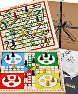 Jaques Of London Snakes And Ladders Ludo On A Reversible Board Spielzeug
