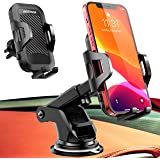 UVERTOOP Support Telephone Voiture, 3en1 Porte Téléphone Voiture Portable Support Ventouse Support Smartphone Voiture pour Ta